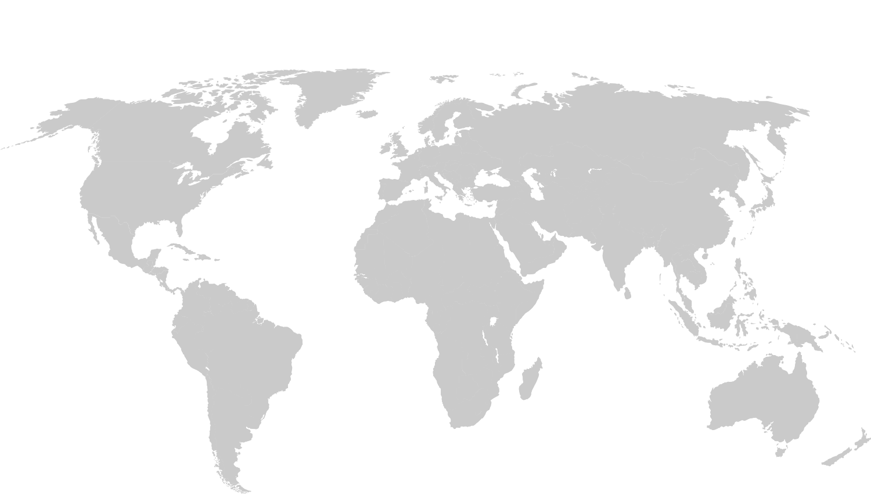 PM Studio GmbH Worldmapblank - Blank world map 1500